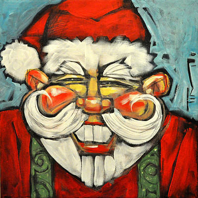 Red Painting - Saint Nick by Tim Nyberg