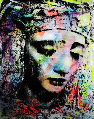 Dolores Mixed Media - Saint Of Seven Sorrows by Penelope Stephensen
