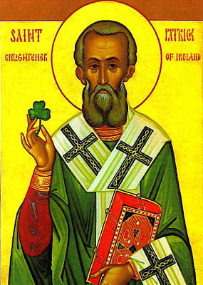 Saint Patrick Enlightener Of Ireland Print by Bill Cannon