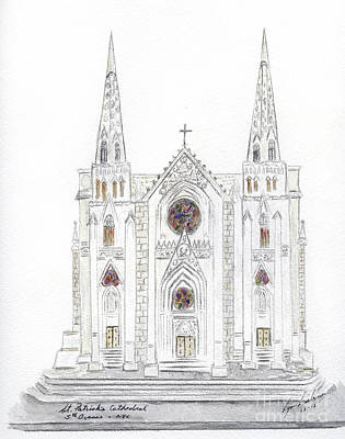 Painting - Saint Patrick's Cathedral by AFineLyne
