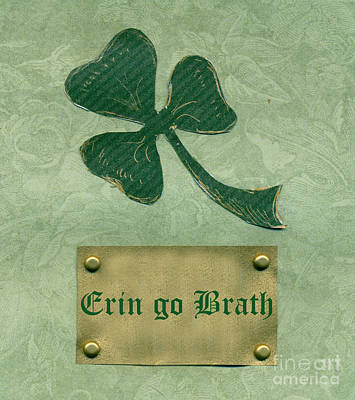 Mixed Media - Saint Patricks Day Collage Number 26  by Ellen Miffitt