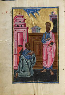 Saint Paul And Sergius, Roman Proconsul In Cyprus Malnazar Art Print by Litz Collection