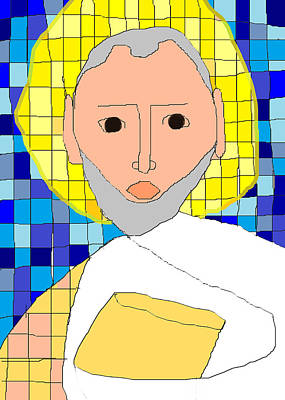 Greek Icon Painting - Saint Paul by Anita Dale Livaditis