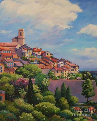 Nice France Painting - Saint Paul De Vence  Detail by John Clark
