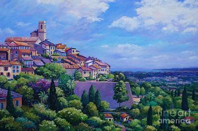 Nice France Painting - Saint Paul De Vence by John Clark