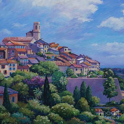 Nice France Painting - Saint Paul De Vence Square by John Clark