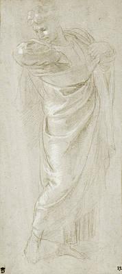 Lilacs Drawing - Saint Paul Rending His Garments Raphael Raffaello Sanzio by Litz Collection