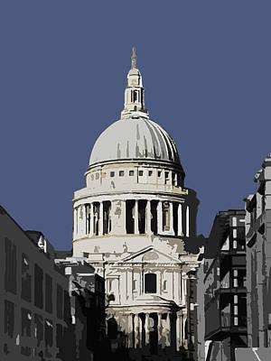 Saint Pauls - New Blue Art Print