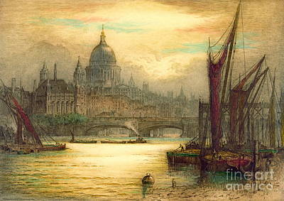 Saint Paul's Cathedral 1902 Art Print by Padre Art