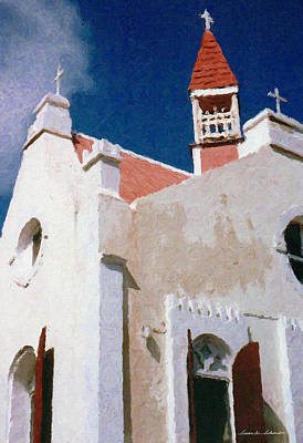 Painting - Saint Pauls Conversion Church Saba The Netherlands Antilles by Susan Schroeder