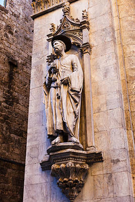 Photograph - Saint Peter With Keys Siena by Mathew Lodge