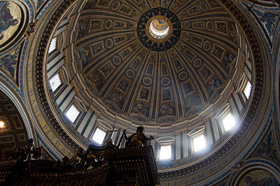 Vatican Photograph - Saint Peter's Light by Aaron Bedell