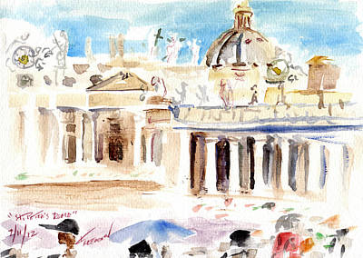 Monte Carlo Painting - Saint Peters Rome Italy by Valerie Freeman