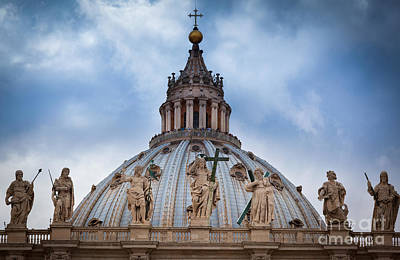 Jesus Photograph - Saint Peter's Roof by Inge Johnsson