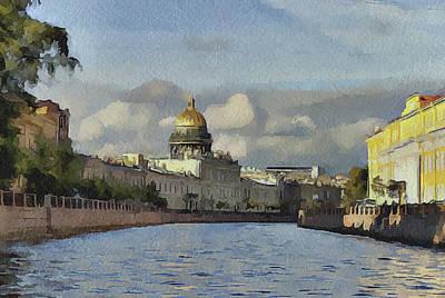 Old Town Digital Art - Saint Petersburg 2 by Yury Malkov