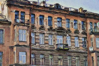 Digital Art - Saint Petersburg Architecture by Yury Malkov