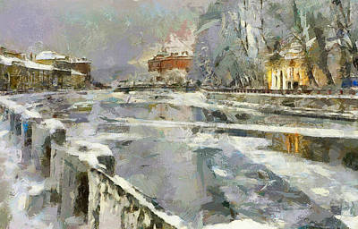 Digital Art - Saint Petersburg At Winter by Yury Malkov