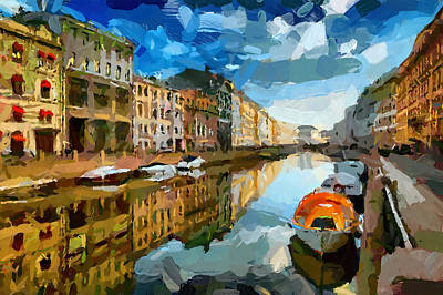 Digital Art - Saint Petersburg Canals by Yury Malkov