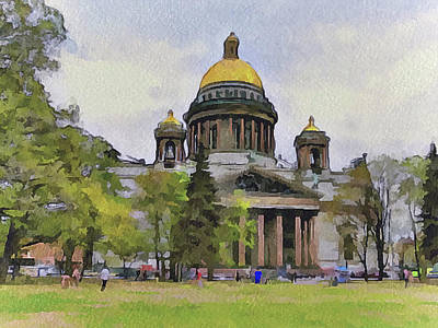 Photograph - Saint Petersburg Cathedral by Yury Malkov