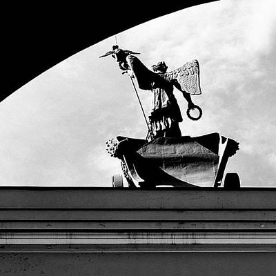 Fame Wall Art - Photograph - #saint #petersburg #russia #moon #angel by Anna Albrecht