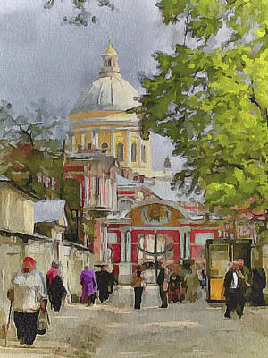 Digital Art - Saint Petersburg Saint Alexander Cathedral by Yury Malkov