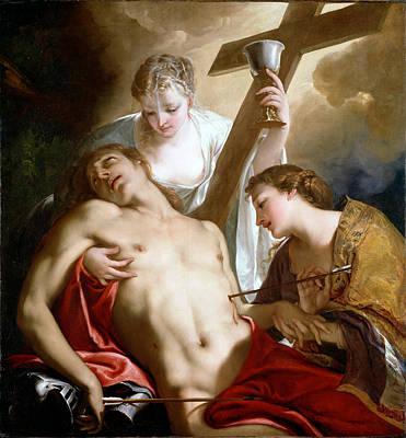 Catholic For Sale Painting - Saint Sebastian by Antonio Bellucci