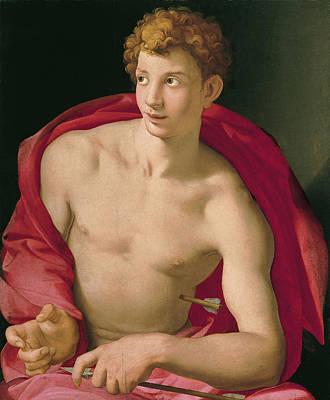 Religious Art Painting - Saint Sebastian by Bronzino
