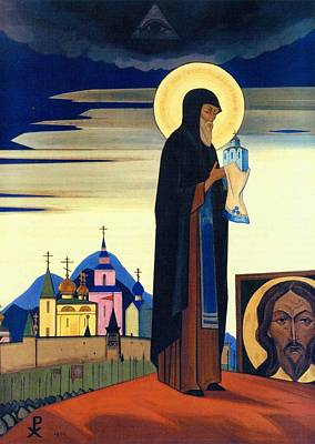 Moscow Painting - Saint Sergius Radonezhsky by Nicholas Roerich