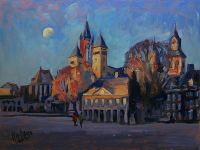 Saint Servaas Basilica In The Morning Art Print