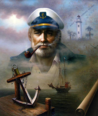 Painting - Saint Simons Island Sea Captain 2 by Yoo Choong Yeul