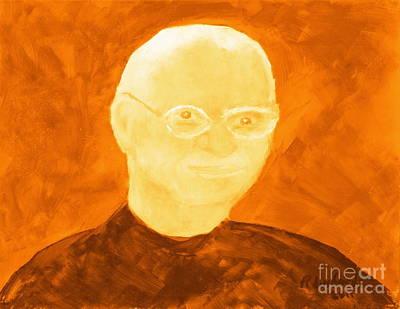 Saint Steven Paul Jobs 3 Art Print by Richard W Linford