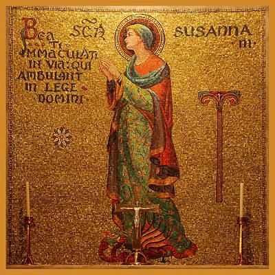 Religious Art Digital Art - Saint Susanna Altar by Philip Ralley