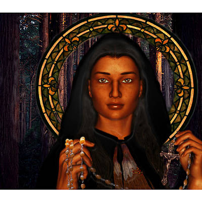 Saint Tekakwitha The Lily Of The Mohawks Art Print