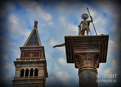 St. Marks Basilica Photograph - Saint Theodore Standing Guard by Lee Dos Santos