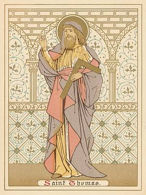 Christianity Drawing - Saint Thomas by English School