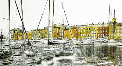 Abstract Landscape Mixed Media - Saint Tropez by Frank Tschakert