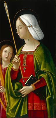 Ursula Painting - Saint Ursula by Antonio Solario