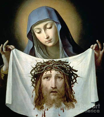 Cloth Painting - Saint Veronica by Guido Reni