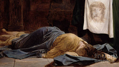 Ground Painting - Saint Veronica by Hippolyte Delaroche