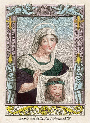 Featured Images Drawing - Saint Veronica She Used by Mary Evans Picture Library