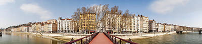 Saone River Photograph - Saint Vincent Bridge Over The Saone by Panoramic Images