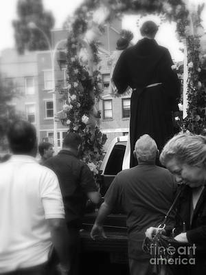 Photograph - Saintly Procession - Soho - New York by Miriam Danar