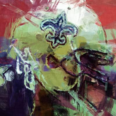 Gridiron Digital Art - Saints Art by David G Paul