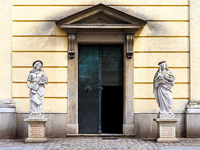 Photograph - Saints At The Church Door by Menega Sabidussi