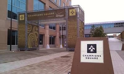 Saints - Champions Square - New Orleans La Art Print by Deborah Lacoste