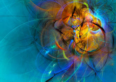 Spiritual Digital Art - Saint's Dream by Modern Art Prints