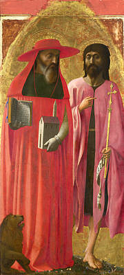Baptist Painting - Saints Jerome And John The Baptist by Masaccio