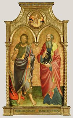 Saints John The Baptist And John The Evangelist Mariotto Di Art Print by Litz Collection