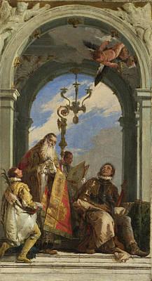 Giovanni Battista Tiepolo Painting - Saints Maximus And Oswald by Giovanni Battista Tiepolo