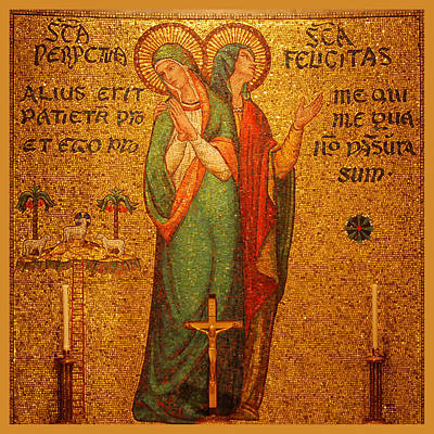 Religious Art Digital Art - Saints Perpetua And Felicitas Altar by Philip Ralley